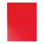 Subcarpeta cartulina reciclada Exacompta tamaño A4 color roja 280 gr/m2 con 2 solapas interior
