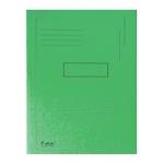 Subcarpeta cartulina reciclada Exacompta tamaño A4 color verde 280 gr/m2 con 2 solapas interior