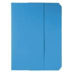 Subcarpeta cartulina vip Fast-PaperFlow tamaño A4 con solapa pack de 50 color azul
