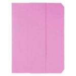 Subcarpeta cartulina vip Fast-PaperFlow tamaño A4 con solapa pack de 50 color rosa pastel