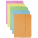 Subcarpeta cartulina vip Fast-PaperFlow tamaño folio con solapa pack de 50 unidades colores pasteles surtidos