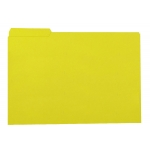Subcarpeta de cartulina Gio tamaño folio color amarillo 250 gr/m2 con pestaña izquierda