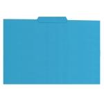 Subcarpeta de cartulina Gio tamaño folio color azul 250 gr/m2 con pestaña central