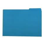 Subcarpeta de cartulina Gio tamaño folio color azul 250 gr/m2 con pestaña derecha