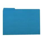 Subcarpeta de cartulina Gio tamaño folio color azul 250 gr/m2 con pestaña izquierda