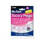 Sujetacosa masilla Bostik toca y pega blu tack laminas adhesivas transferible contine 4 laminas