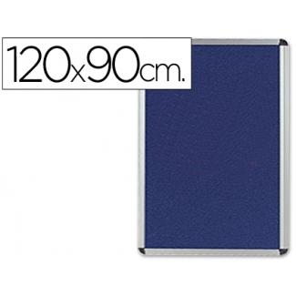 Tablero de anuncios Q-Connect mural grande fieltro color azul 120x90 cm