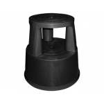 Taburete Q-Connect ruedas retractiles tres ruedas dos niveles color negro