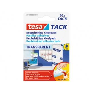 Tesa 59400-00000-00 - Tacks autoadhesivos, doble cara, transparentes