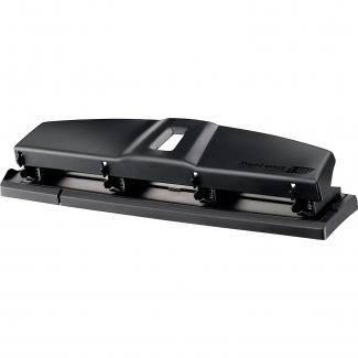 Maped Essentials 400111 - Taladrador metálico, perfora hasta 12 hojas, color negro