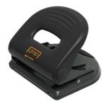 Taladrador Ofigrap metálico para 25 hojas color negro