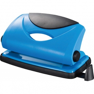 Q-Connect KF02153 - Taladrador metálico, perfora hasta 10 hojas, color azul