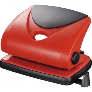 Q-Connect KKF02156 - Taladrador metálico, perfora hasta 20 hojas, color rojo