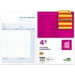 Talonario Liderpapel entregas tamaño cuarto original t126 texto en catalan