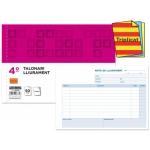 Talonario Liderpapel entregas tamaño cuarto original y 2 copias t329 apaisado texto en catalan