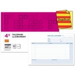 Talonario Liderpapel entregas tamaño cuarto original y copia t229 apaisado texto en catalan