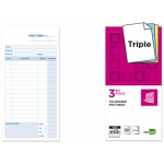 Talonario Liderpapel facturas 3/fº original y 2 copias t312 con i.v.a