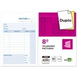 Liderpapel T200 - Talonario facturas, tamaño 8º, 50 juegos, original + copia