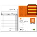 Talonario Liderpapel facturas tamaño cuarto original t116 con i.v.a texto en catalan