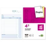 Liderpapel T216 - Talonario facturas, tamaño 4º, 50 juegos, original + copia