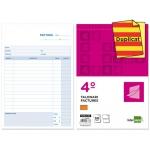 Talonario Liderpapel facturas tamaño cuarto original y copia t216 con i.v.a texto en catalan