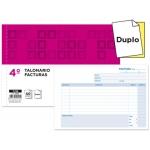 Talonario Liderpapel facturas tamaño cuarto original y copia t218 apaisado con i.v.a