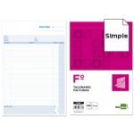 Talonario Liderpapel facturas tamaño folio con iva- 123