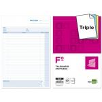 Talonario Liderpapel facturas tamaño folio original y 2 copias t323 con i.v.a