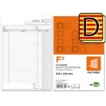 Talonario Liderpapel facturas tamaño folio original y copia t223 con i.v.a texto en catalan