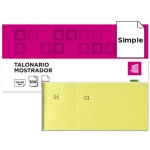 Talonario Liderpapel mostrador 50x110 mm tl07 color amarillo con matriz