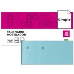 Talonario Liderpapel mostrador 50x110 mm tl08 color celeste con matriz