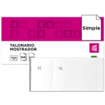 Talonario Liderpapel mostrador 50x110 mm tl09 color blanco con matriz