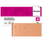 Talonario Liderpapel mostrador 50x110 mm tl10 color naranja con matriz