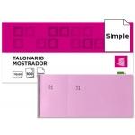 Talonario Liderpapel mostrador 50x110 mm tl11 color rosa con matriz