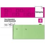 Talonario Liderpapel mostrador 50x110 mm tl12 color verde con matriz