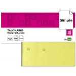 Talonario Liderpapel mostrador 60x145 mm tl01 color amarillo con matriz