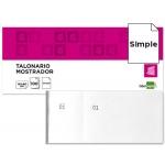 Talonario Liderpapel mostrador 60x145 mm tl02 color blanco con matriz