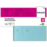 Talonario Liderpapel mostrador 60x145 mm tl03 color celeste con matriz