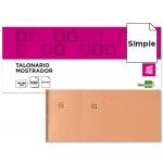 Talonario Liderpapel mostrador 60x145 mm tl04 color naranja con matriz