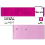Talonario Liderpapel mostrador 60x145 mm tl05 color rosa con matriz