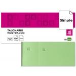 Talonario Liderpapel mostrador 60x145 mm tl06 color verde con matriz