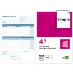 Liderpapel T155 - Talonario orden de trabajo, tamaño 4º, 100 hojas, simple