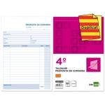 Talonario Liderpapel pedidos tamaño cuarto original y copia t222 texto en catalan