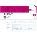 Talonario Liderpapel recibos 2/fº original t134 con matriz