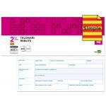 Talonario Liderpapel recibos 2/fº original t134 con matriz texto en catalan