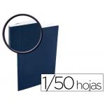 Tapa de encuadernación Bindo capacidad 1/50 hojas color azul sin ventana kit sistema encuadernación sin maquina