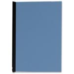 Tapa de encuadernación Q-connect cartón tamaño A4 color azul simil-piel 250 gr