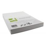 Tapa de encuadernación Q-connect cartón tamaño A4 color blanco simil-piel 250 gr paquete de 100 tapas