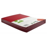 Tapa de encuadernación Q-Connect cartón tamaño A4 color rojo simil-piel 250 gr paquete de 100 tapas