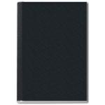 Tapa de encuadernación channel rigida color negro lomo 24,5 mm capacidad 245 hojas